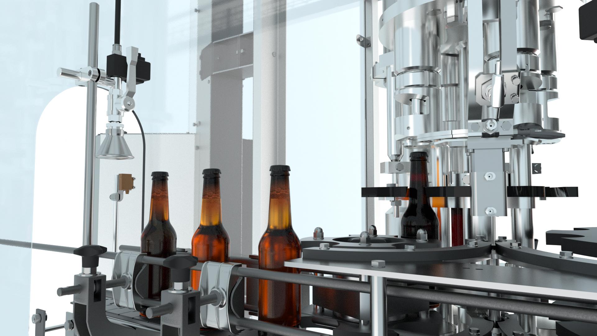Verschließer für Kronkorken sowie Flaschenabgabe – optional auch Ausführung mit Schraubverschließer